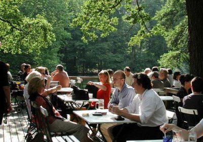 Biergarten im Park Tiergarten