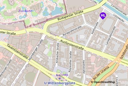 Karte Lage Hotel Lützow